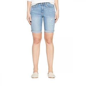 NEW Universal Thread Bermuda Jean Shorts 8 Blue